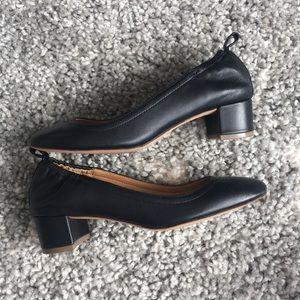 Jcrew leather ballet heel